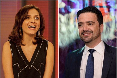 Monica Iozzi e Daniel Ortiz (Foto: TV Globo)