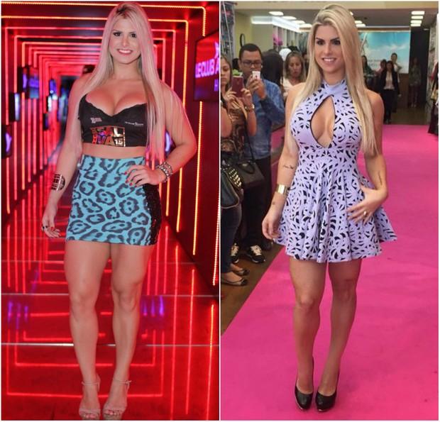 Julia Nunes antes e depois de perder sete quilos (Foto: Marcelo Brammer/Agnews/Instagram)