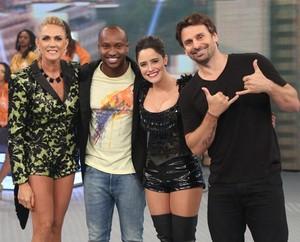 Hortência, Thiaguinho, Fernanda e Murilo (Foto: Carol Caminha/Gshow)