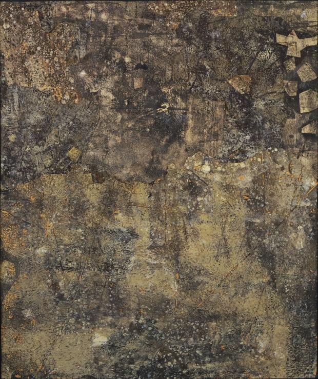 Espaço da Applicat-Prazan - Topographie châtaigne (1959), de Jean Dubuffet, óleo e colagem em papel e tela (Foto: Divulgação)