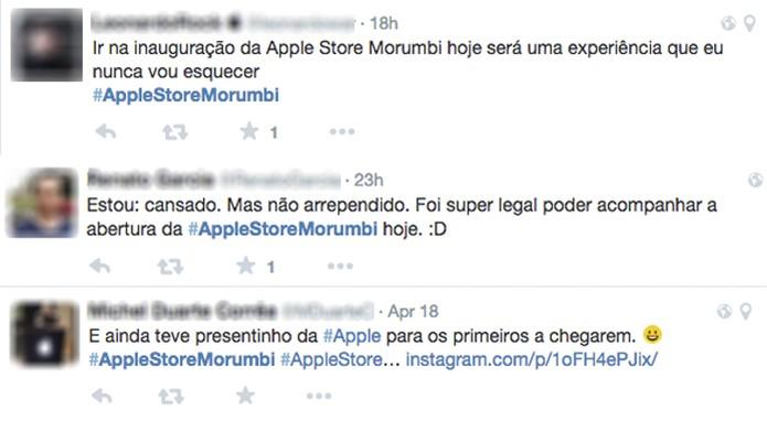 Repercussão no Twitter sobre o lançamento da Apple Store de São Paulo (Foto: Reprodução/Twitter)