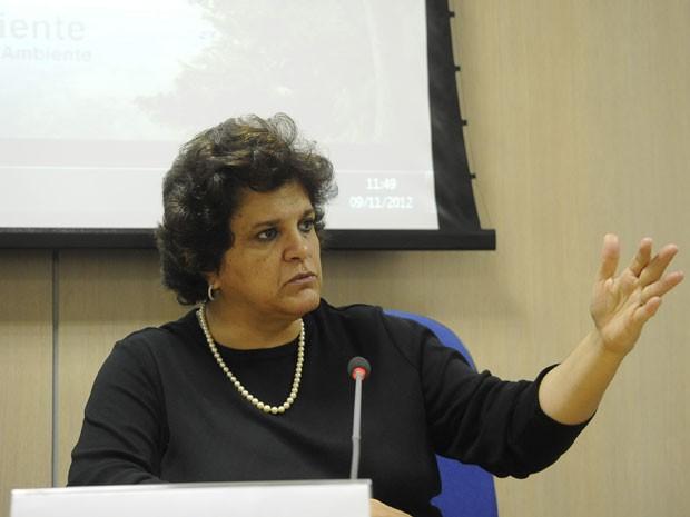 A ministra do Meio Ambiente, Izabella Teixeira, durante evento realizado nesta sexta-feira (9) em Brasília (Foto: Wilson Dias/ABr)