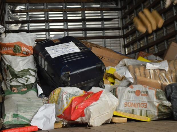 Drogas entorpecentes Denarc incineradas RS (Foto: Divulgação/Denarc)
