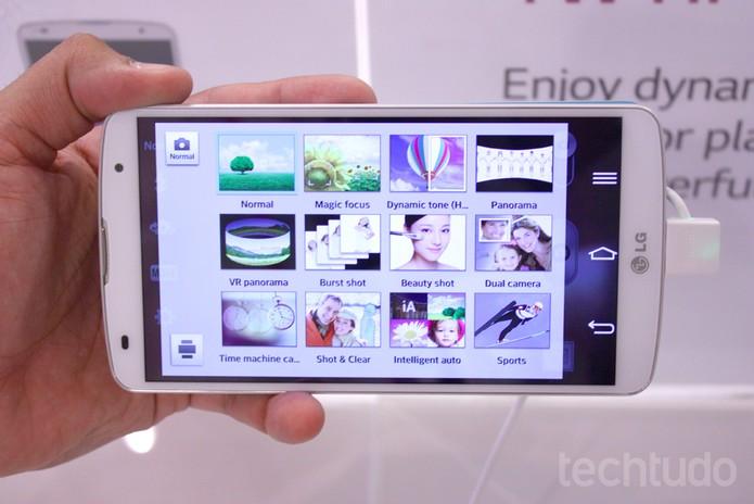 Modos de câmera do LG G Pro 2 oferecem muitas opções ao usuário (Foto: Allan Melo / TechTudo)