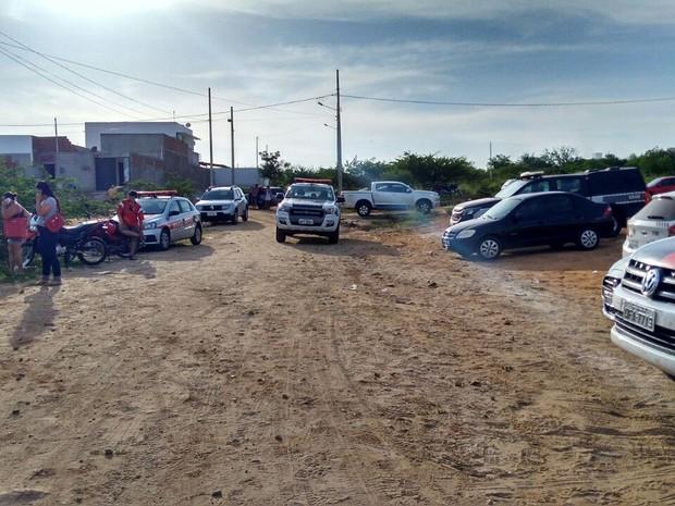 Suspeito de ser um dos líderes de quadrilha que traficava drogas foi preso em Patos, na Paraíba (Foto: Rafaela Gomes/ TV Paraíba)