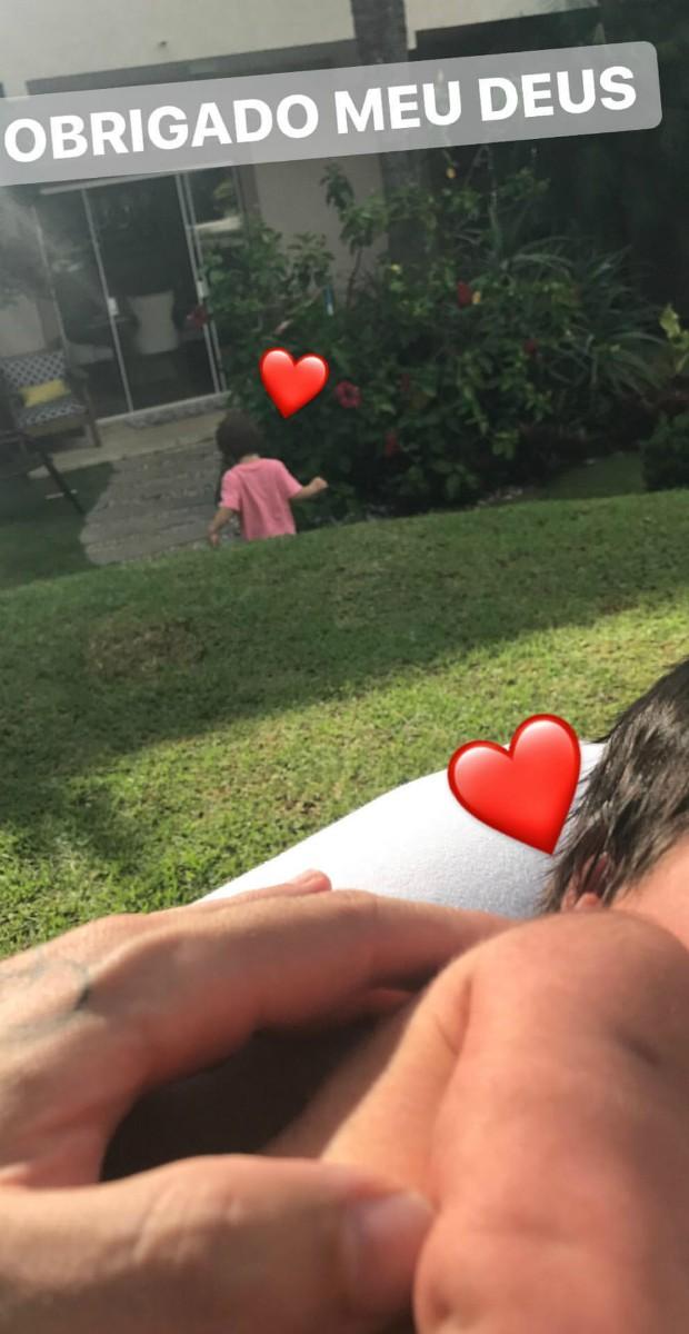 Rodrigão com Linda e Rodrigo (Foto: Reprodução)