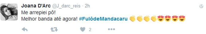 Internauta ficou arrepiada com apresentação da Fulô de Mandacaru (Foto: Internet/Reprodução)