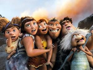 Cena da animação em 3D 'Os Croods: Uma aventura das cavernas' (Foto: Divulgação)