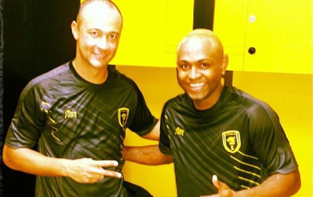 Fernando baiano e Jobson primeiro treino al ittihad (Foto: Reprodução / Instagram)
