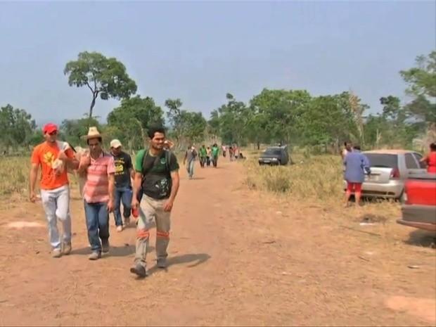Cerca de 80% dos garimpeiros já deixaram a Serra da Borda voluntariamente, segundo a PRF (Foto: Reprodução / TVCA)