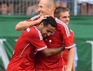 Thiago alcantara e Robben Bayern de Munique (Foto: Agência AP)