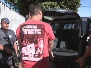 Rapaz foi preso durante operação do Gaeco (Foto: Reprodução/ TV TEM)