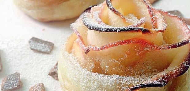 Rosas de maçã e massa folhada (Foto: Arquivo Pessoal)