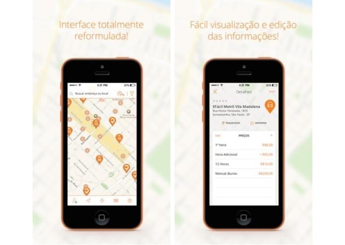 O App Onde Parar ajuda o motorista a encontrar o estacionamento mais próximo (Foto: Divulgação)