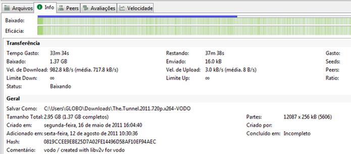 Informações sobre o download (Foto: Reprodução/Ramon Cardoso)