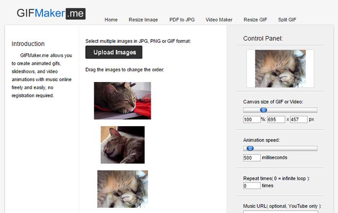 GIF Maker é ideal para criar GIFs online com fotos (Foto: Reprodução/Paulo Alves)
