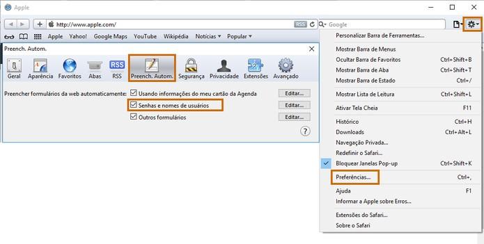 Adicione a senha automática no navegador Safari (Foto: Reprodução/Barbara Mannara)