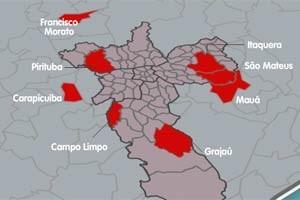 Veja quais regiões participam da segunda edição do Parceiro do SP (Arte/G1)
