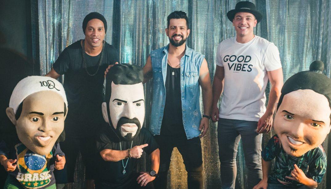 Dennis, Ronaldinho e Safado so os professores da malandragem em novo single do DJ (Foto: Divulgao)