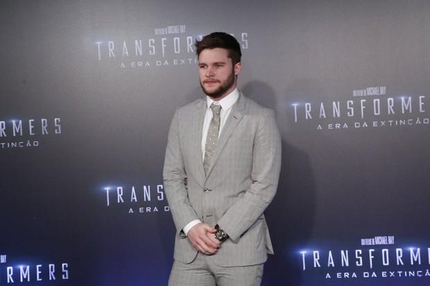 Jack Reynor na pré-estreia de Transformers (Foto: Felipe Assumpção / AgNews)