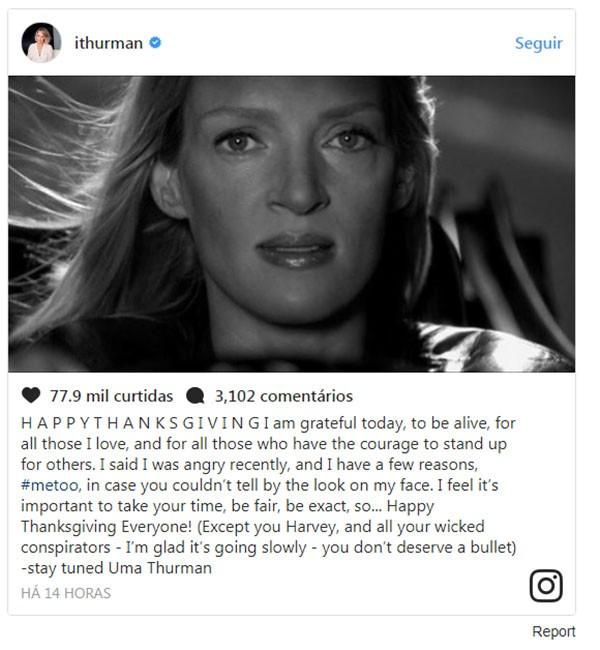 Uma Thurman (Foto: Instagram)