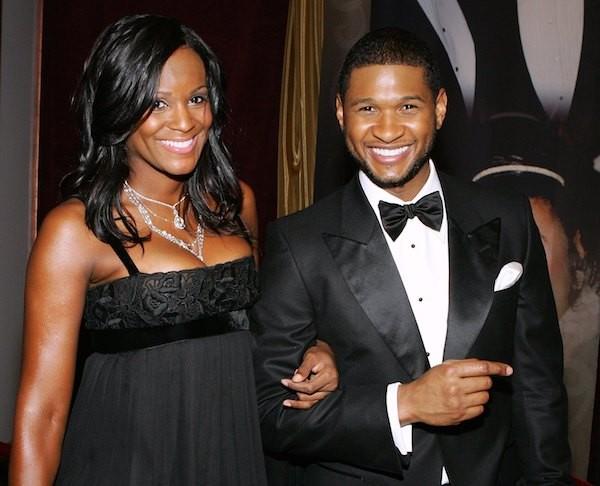 O rapper Usher com a ex-esposa, Tameka Foster (Foto: Getty Images)