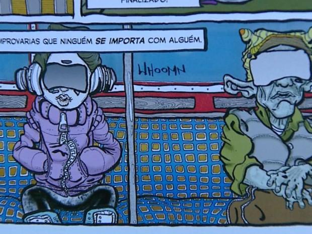 Homem larga emprego de bancário para realizar sonho de ser quadrinista (Foto: Ely Venâncio / EPTV)