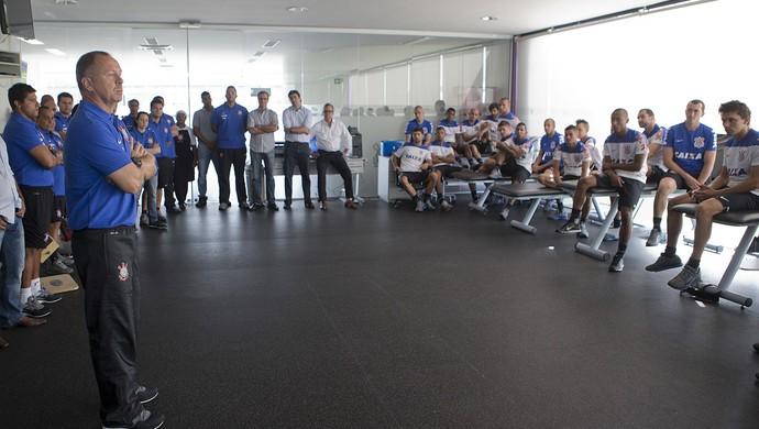 Mano Menezes conversa jogadores Corinthians (Foto: Daniel Augusto Jr / Agência Corinthians)