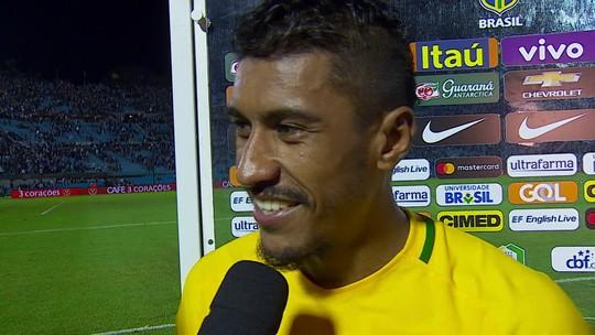 Paulinho se surpreende com três gols e pede música para o Fantástico