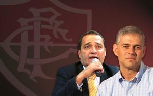Carrossel Peter Siemen e Deley Fluminense (Foto: Editoria de arte)