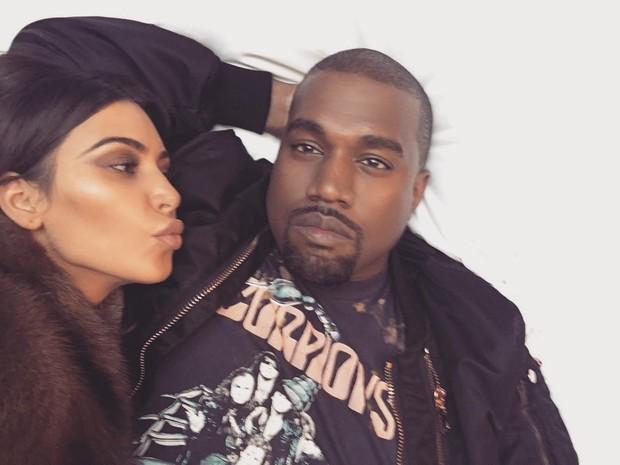 Kim Kardashian e Kaye West (Foto: Reprodução/Instagram)