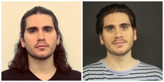 Gabriel Sater: antes e depois (Foto: Divulgação)