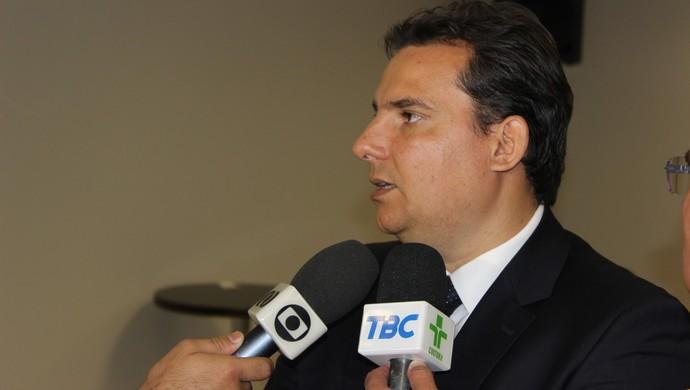 André Pitta - presidente da Federação Goiana de Futebol (Foto: Fernando Vasconcelos / Globoesporte.com)