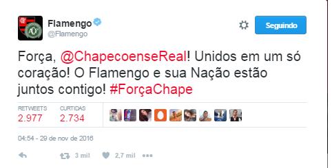 Flamengo Chape (Foto: Twitter)