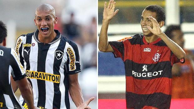 montagem Dória e Rafinha Botafogo x Flamengo (Foto: Editoria de Arte / Globoesporte.com)