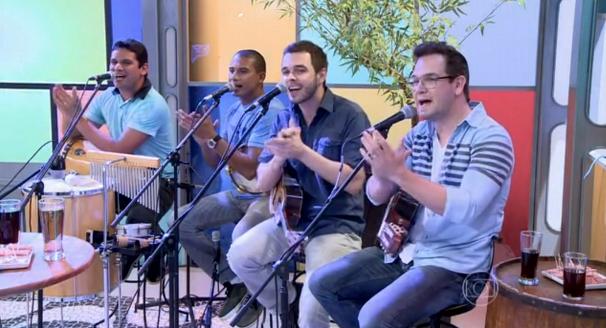 Quarteto Linha participa do programa Encontro com Fátima Bernardes (Foto: Reprodução/Rede Globo)