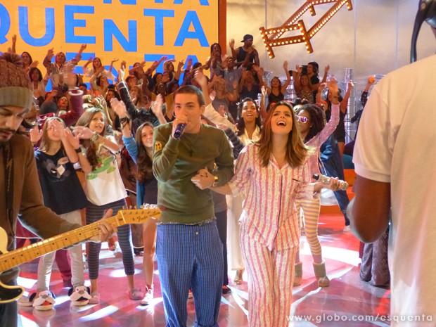 Di Ferrero e Giovanna Lancellotti (Foto: TV Globo / Esquenta!)