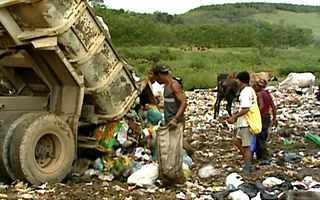 Aterro sanitário (Foto: Rede Globo)