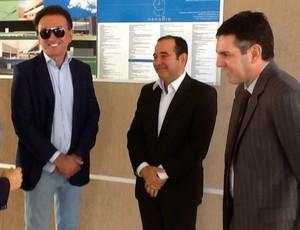 Charles Maia, Demétrio Torres, Rubens Guilherme e Alex Padang, reunião, Arena das Dunas (Foto: Divulgação)
