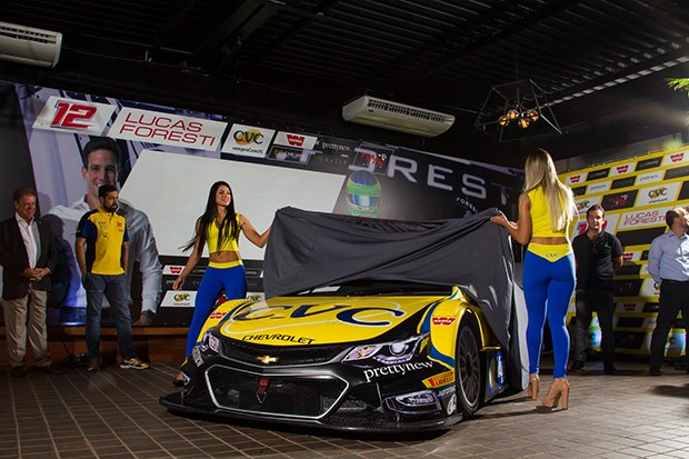 Apresentação do Stock Car do piloto Lucas Foresti #12 da equipe Full Time Sport (Foto: Divulgação/Marcus Cicarello )