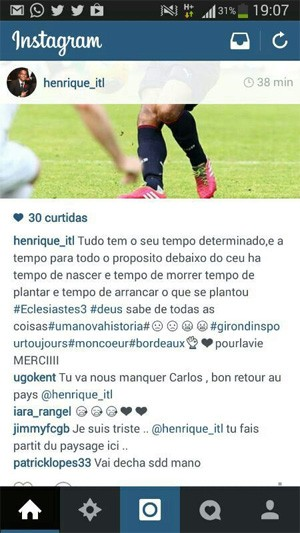 Henrique Bordeaux (Foto: Instagram)