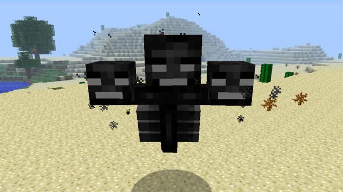 Wither é o principal monstro adicionado à versão dos videogames de Minecraft (Foto: Planet Minecraft)