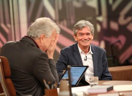 Serginho Groisman brinca que Bial está grávido: 'É Laura? Perfeita para o Thomas'