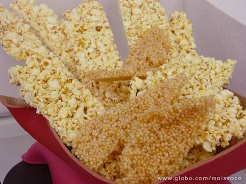Placa de pipoca ou de floquinhos de arroz