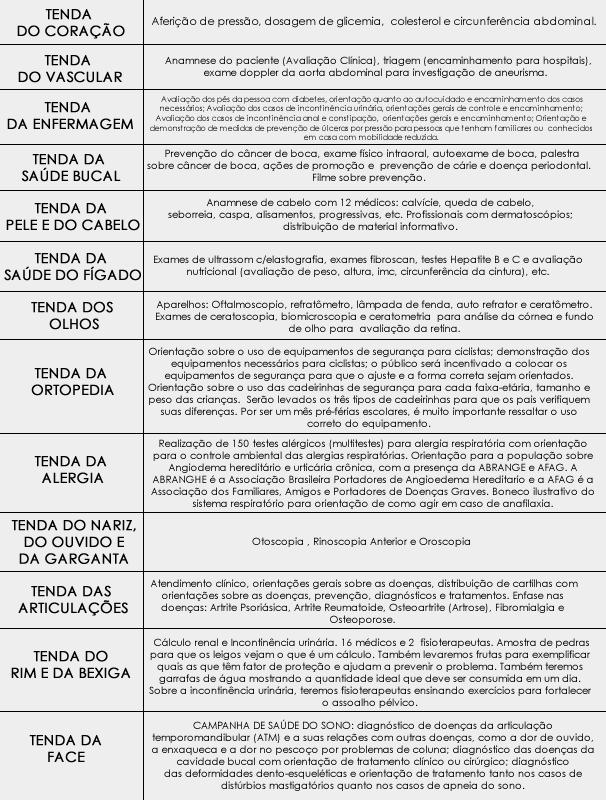 Serviços disponíveis para a comunidade na segunda edição do 'Bem Estar Global' em Goiânia  (Foto: TV Anhanguera)