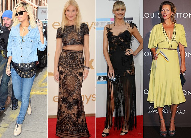 Rihanna, Gwyneth Paltrow, Heidi Klum e Kate Moss (Foto: Agência Getty Images - Agência Reuters)