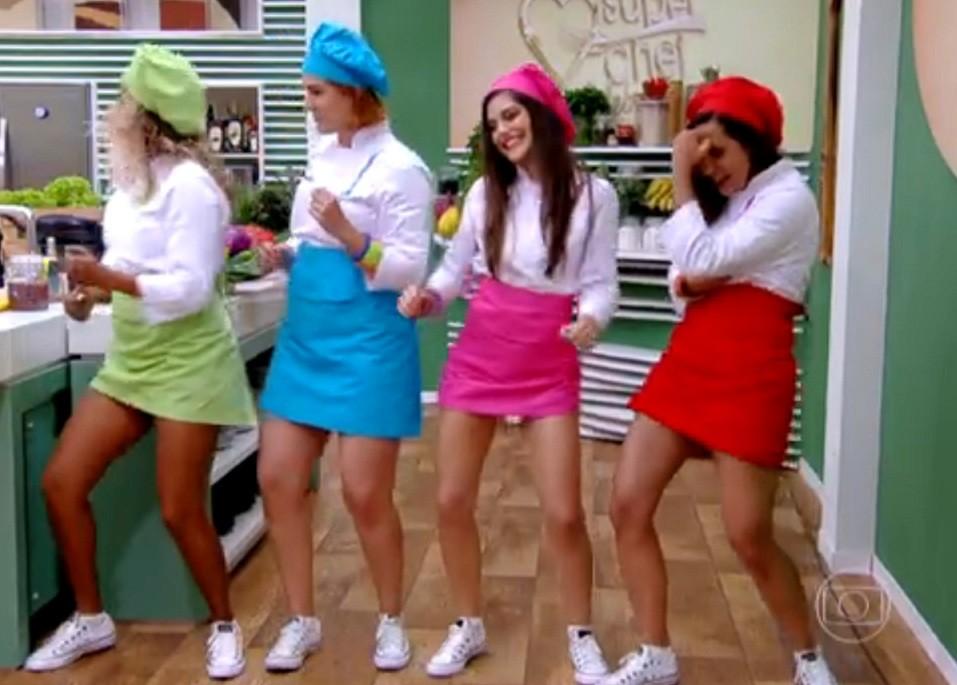 Meninas do Super Chef dançam ao som de ritmo baiano (Foto: divulgação)