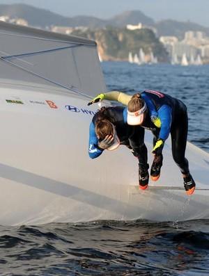 Martine Grael e Kahena Kunze evento-teste vela Rio