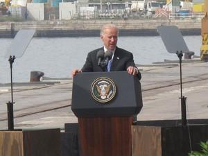 Em discurso no Rio, Joe Biden elogiou projetos como o Bolsa Família (Foto: Isabela Marinho / G1)