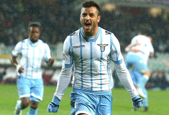 Felipe Anderson comemora gol da Lazio contra o Torino (Foto: Agência AFP)